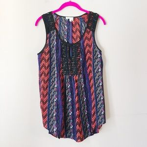 [Anthropologie Meadow Rue] southwest print tank